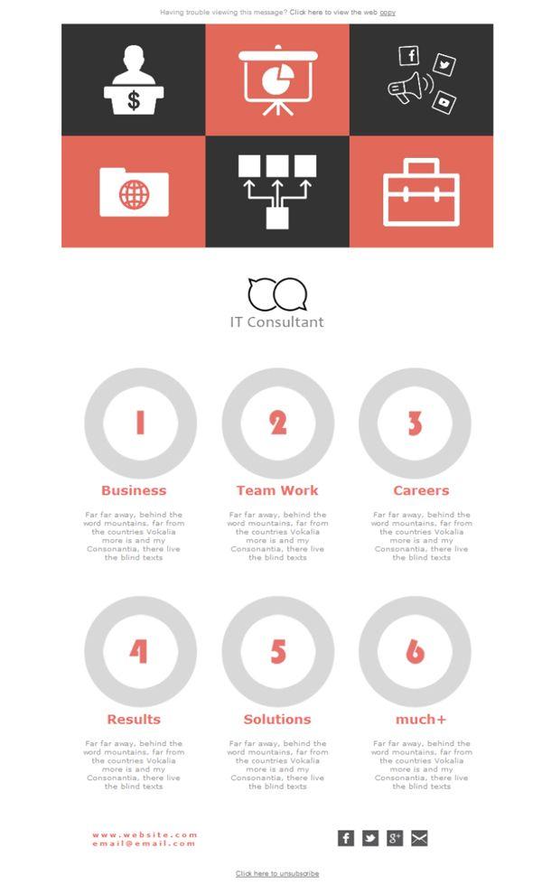 Mejores 8 imágenes de Consultorías - Plantillas newsletter en ...