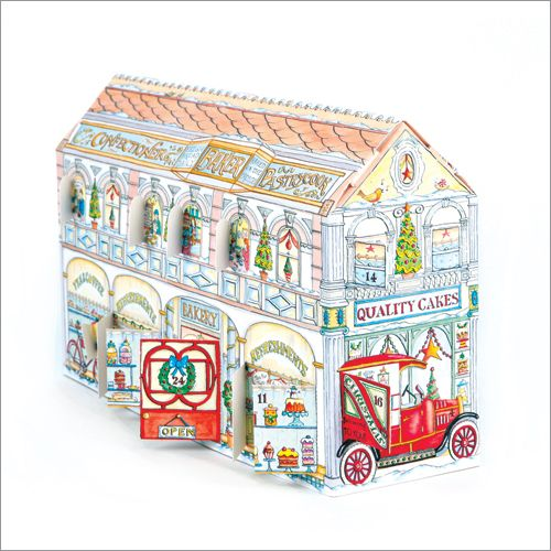 ADV31 Christmas Bakery & Tea Shop Advent Calendar by Phoenix Trading. Open a window each day to see what is behind. Only £7.50 and can be ordered at www.nichola.cards