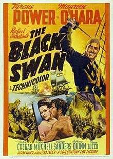The Black Swan is a 1942 swashbuckler Technicolor film by Henry King, based on a novel by Rafael Sabatini, and starring Tyrone Power and Maureen O'Hara.[1][2] It was nominated for three Academy Awards, and won one for Best Cinematography, Color. After England and Spain make peace, notorious pirate Henry Morgan (Laird Cregar) decides to reform. As a reward, he is made Governor of Jamaica, with a mandate to rid the Caribbean of his former comrades, by persuasion or force if necessary.