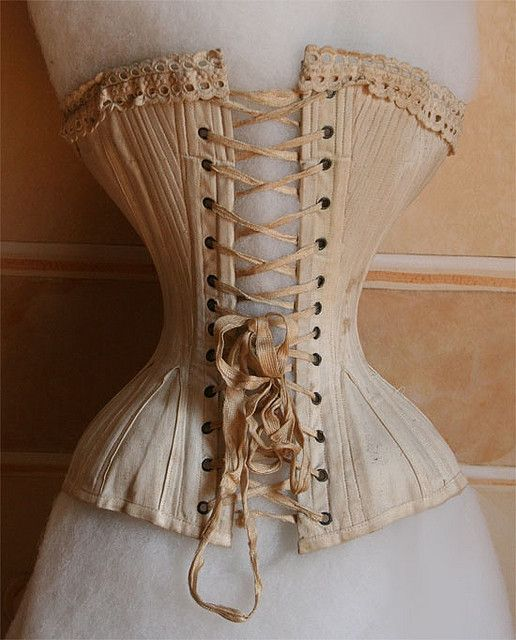 vintage corset, and I would not have wanted to wear one of those! Mine God this is realy to much......