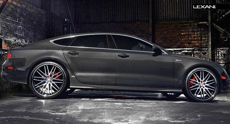 Lexani Wheels, the leader in custom luxury wheels.  2013 Audi A7 with brushed CVX-44.