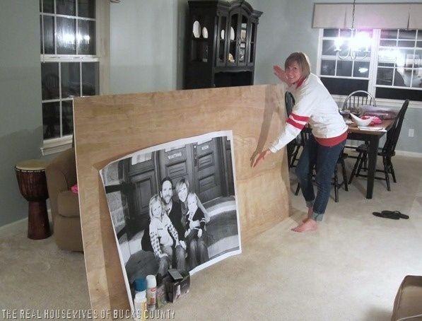 Para un tapiz comunicado, Staples hace fotografías de tamaño grande llamados…