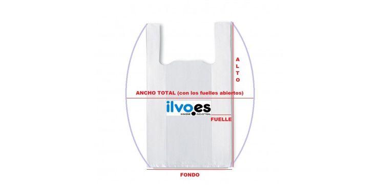 Las medidas de una bolsa de asa camiseta dadas por el fabricante pueden tener una mala interpretación por parte del cliente que las adquiere. Aquí te mostramos la manera correcta de interpretarlas y medirlas.
