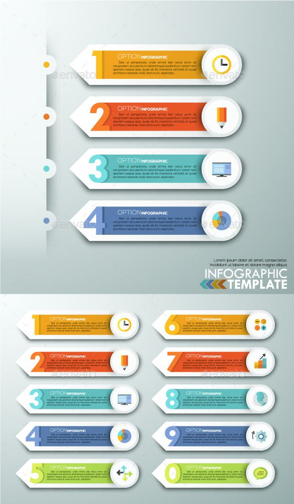 Modern Infographics Paper Arrows From 0 To 9. Download here: http://graphicriver.net/item/modern-infographics-paper-arrows-from-0-to-9/13975133?ref=ksioks