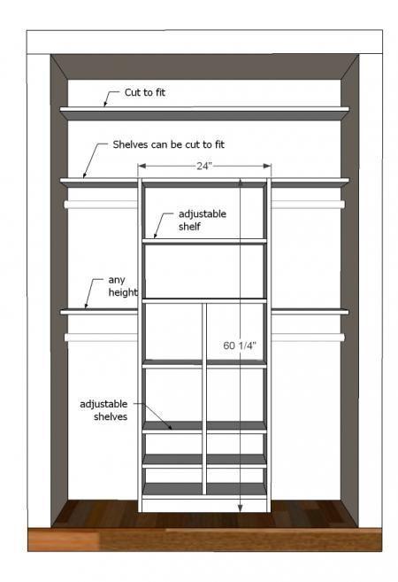 Great tutorial to make your own kid's closet organizer. Just My Size Closet via Ana White