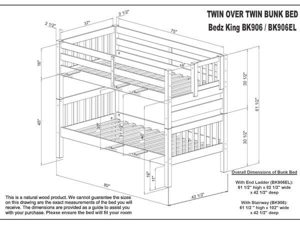 Bunk Beds Twin Over Twin Stairway Gray Bunk Beds Bunk Bed With
