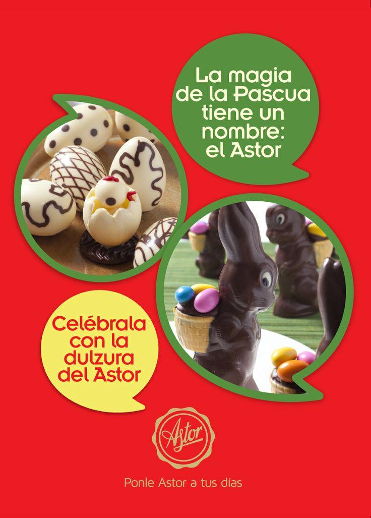 la magia de la PASCUA tiene un nombre: El Astor... Ven y celebrarla con los productos de la #reposteriaastor  www.elastor.com.co