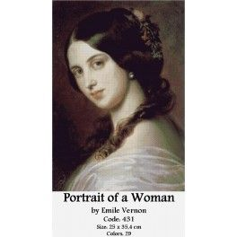 Cross Stitch Kit - Portrait of a Woman by Emile Vernon
