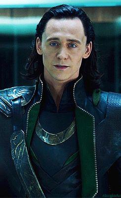 Loki (gif) - the slow, smirk.  Fangirls go wild.