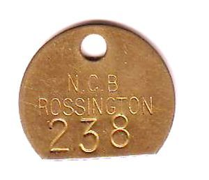 Coal Mining Pit Check Rossington Colliery NCB No 238 Only £5.95