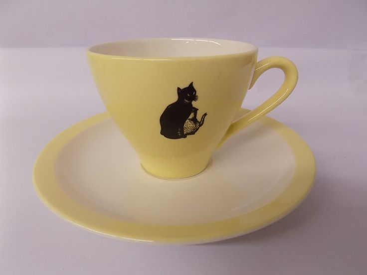 Koffie set van het merk Royal Sphinx (Zwarte Kat) - uwkringding.be - wie kringt, die wint! - goedkoop, veilingsite, koopjes, tweedehands, antiek, brocante