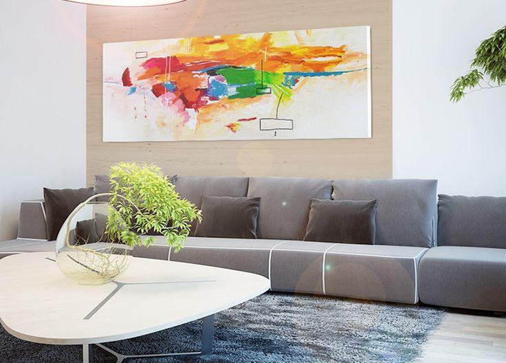 """""""Celebración de colores"""" cuadro sobre lienzo de algodón, un verdadero éxito de ventas en nuestra galería, elegante y moderno, viene listo para colgar, ¡¡¡no necesita marcos!!!"""