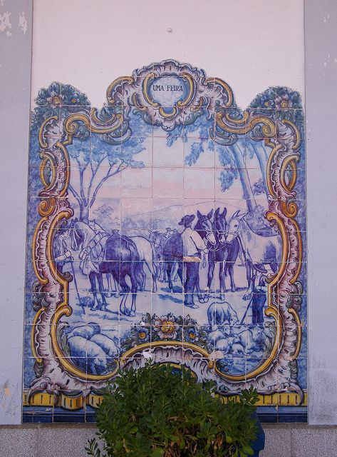 Painel de Azulejos: Uma Feira - Elvas | Flickr – Compartilhamento de fotos!