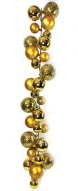 2.7m Gold Ball Garland, Various Baubles - Shiny, Matt & Textured  Code: BAGA270GOLP