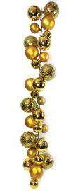 2.7m Gold Ball Garland, Various Baubles - Shiny, Matt & Textured  Code: BAGA270GOLP