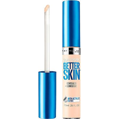 Urban Decay Naked Skin DUPE! Maybelline SuperStay Better Skin Concealer in Ivory. Maybelline's SuperStay Better Skin Concealer is a 2-in-1 targeted concealer and correcter with Actyl-C, an ingredient known for its antioxidant benefits. The concealer instantly provides all-day flawless correction and visibly reduces the appearance of dark circles, spots and imperfections in just 3 weeks. $8.99.