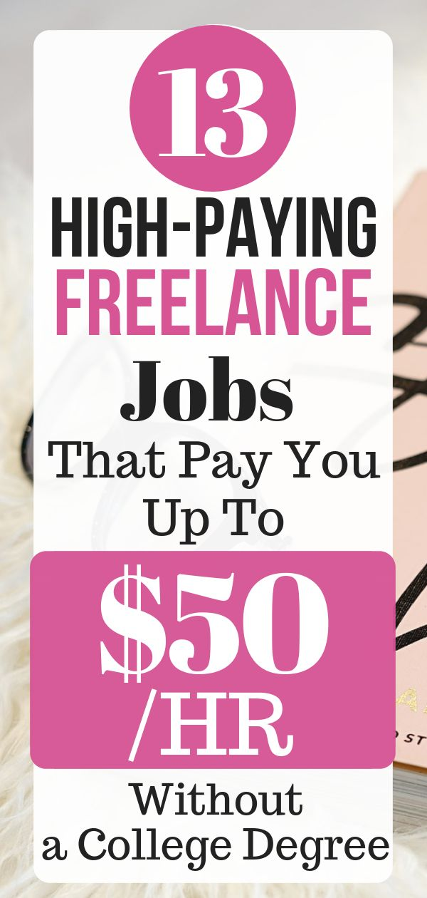 13 High-Paying Freelance Jobs That Pay You Up To $50 /HR Without a College Degree