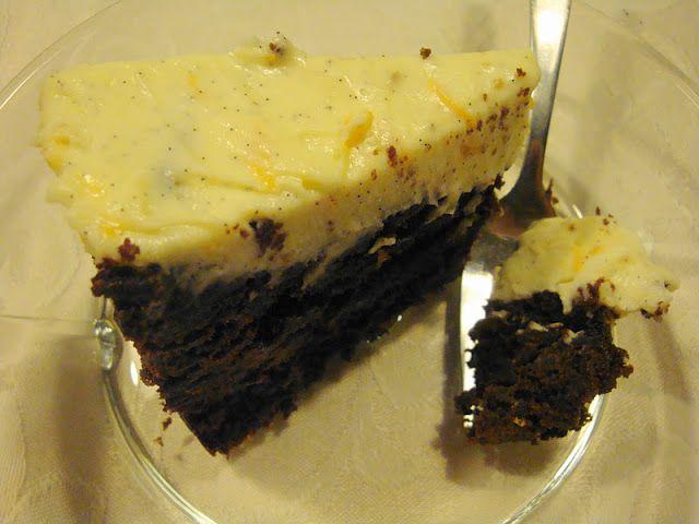 Lækker Chokoladekage med Mascapone-Appelsin-Toppin...
