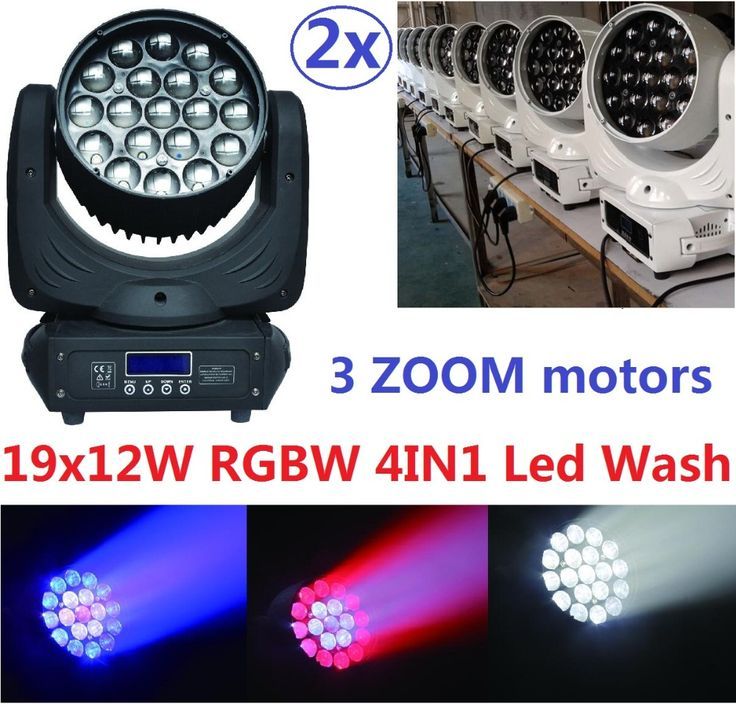 2xLot Free Shipping Led RGBW 4in1 Wash Zoom 19x12W LED Beam Wash Moving Head Light DJ DMX Disco Stage Lighting Effect Projector #Affiliate