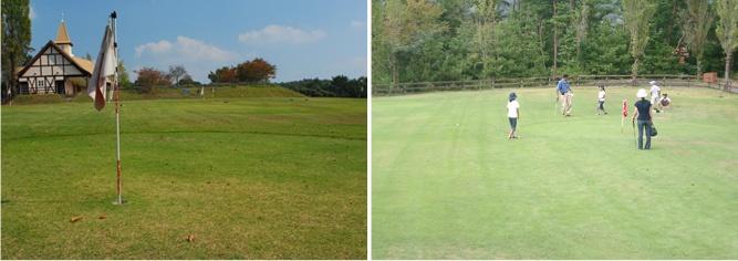 Okayama|岡山(おかやま)|岡山農業公園 ドイツの森|パターゴルフ| さわやかなグリーンでプレイ! ※回数券利用可能 全18ホール(オール パー3)の本格的なコースづくりでさわやかな風の中で思いっきりプレイが出来ます。 3人から4人でゆっくり回って約60分ぐらいで回れるコースです。  ■ 注意事項 パタークラブ、ボールは無料にて貸し出ししていますが、必ず返却して下さい。 又、ハイヒールでのご入場は出来ません。(貸し靴はございません) 2回目を回られる時は、一旦ゴルフ場を退場後再度受付をして下さい。  ■ 料金 18ホール 500円 チケットにてご利用下さい。(券売機有り)