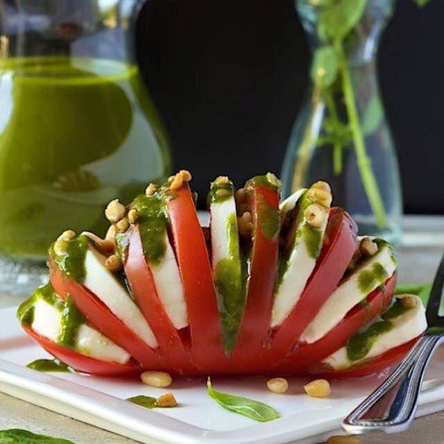 A different way of having a delicious Capressa Salad