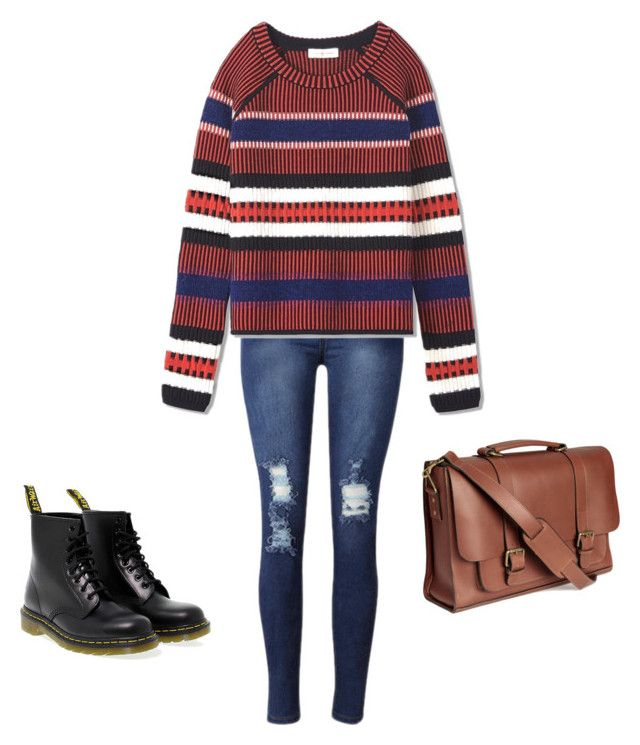 """Untitled #13"" by raven-blackk on Polyvore featuring Dr. Martens and Tory Burch"