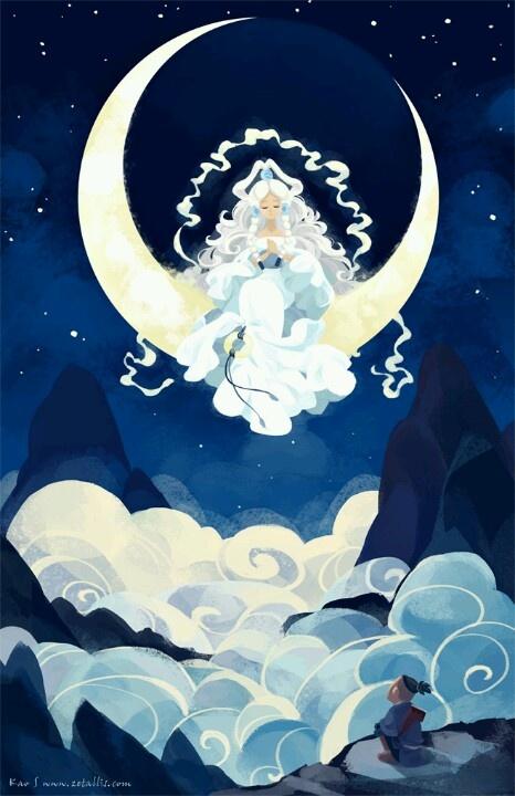 Yue (La Luna) & Sokka - El Reino Tierra, La Nación del Fuego, Los Nómades del Aire & La Tribu Agua - Avatar: el Ultimo Maestro Aire/la Leyenda de Korra