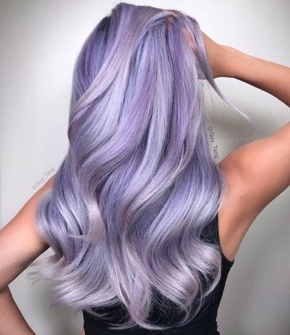 silver violet hair color