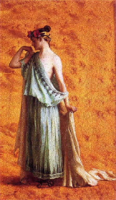 Ράλλης Θεόδωρος-Γυναίκα με αρχαία φορεσιά