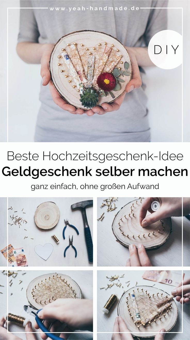 DIY Geldgeschenk für Hochzeit basteln   – Geschenkideen