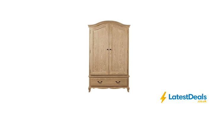 Annabelle Natural Oak Double Wardrobe *HALF PRICE*, £149.99 at Dunelm