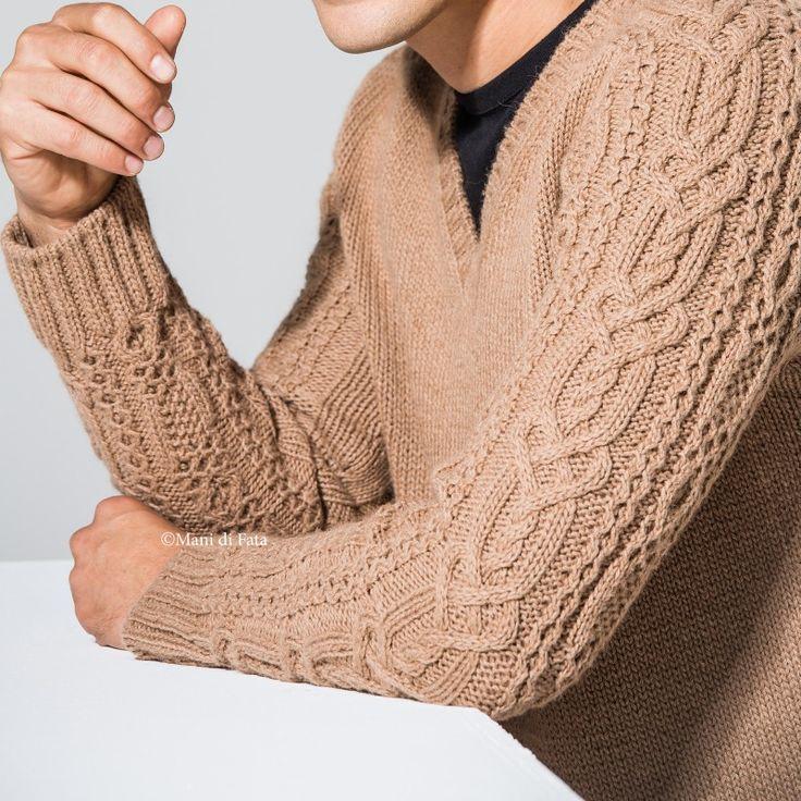 kit filati per lavorare a maglia il maglione da uomo