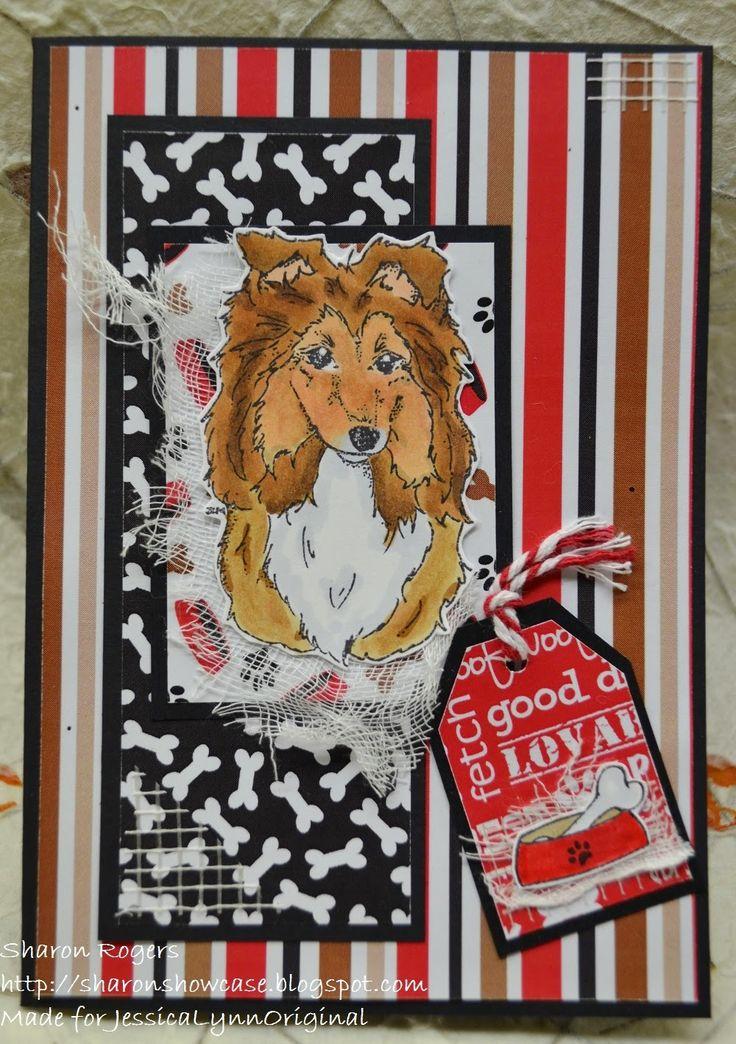 Sharon's Showcase: NEW Sheltie Card Set.....#Adorable #Sheltie #ShetlandSheepdog Rubber Stamps www.jessicalynnoriginal.com