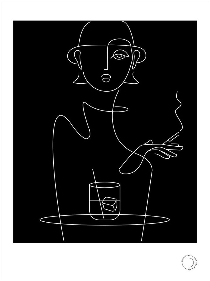 'gin' limited edition print by that girl in black (café series)