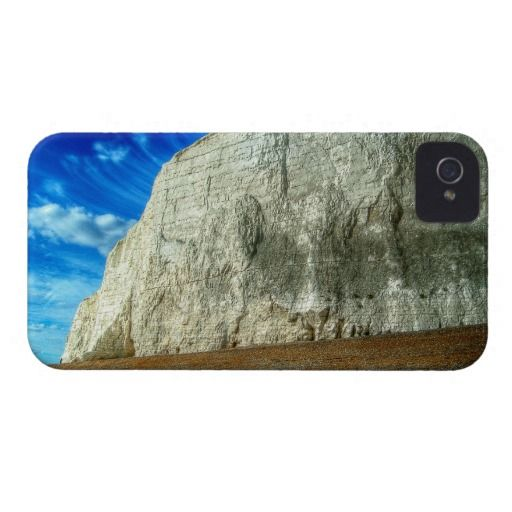 """Insignificant :- This cliff is the start (or end depending on how you look at it) of the famous """"Seven Sisters"""" in Sussex on the south coast of England. Take a close look at the far left hand side of the chalk face (where it stops and hits the beach), you can just make out the small dark figure of an adult man which gives you a sense of scale to it all. Cover For The iPhone 4. #iPhone4 #cliff #chalk #beach #edge #huge #high #massive #tall #ancient #geological #sussex #england #chalkface"""