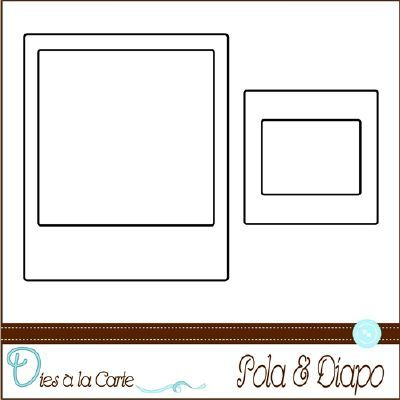 set de 2 dies polaroid diapo scrap la carte dans mes tiroirs j 39 ai pinterest. Black Bedroom Furniture Sets. Home Design Ideas