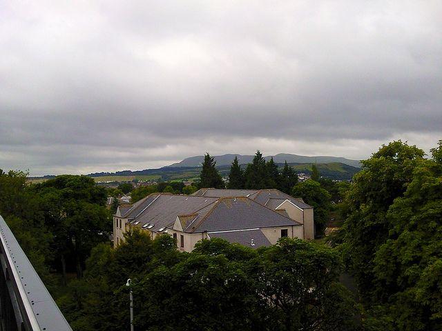 Edinburgh 1st: view from John Burnett House balcony by Karen V Bryan, via Flickr
