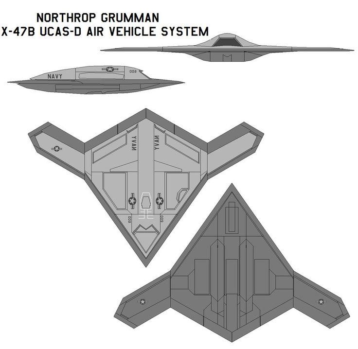 Northrop Grumman X-47B UCAS-D by bagera3005 on DeviantArt