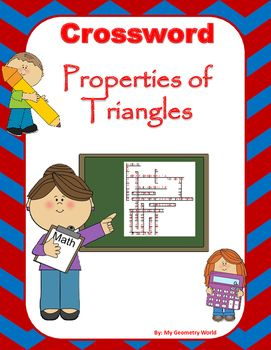 This crossword puzzle is a great way to help students continue to learn definitions and terminology of Properties of Triangles to be successful.
