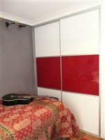High Gloss Sliding Wardrobe Doors with Arctic and Cherry. The Trio