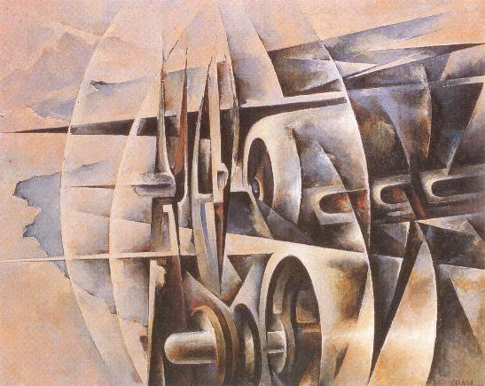 Tullio Crali - Motors Assault