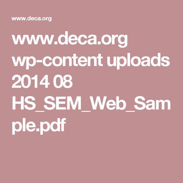 www.deca.org wp-content uploads 2014 08 HS_SEM_Web_Sample.pdf