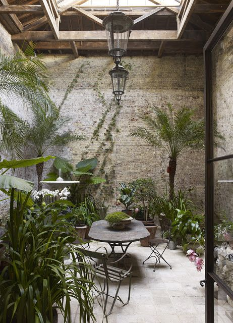 Jardin d'hiver de la maison londonienne de Rose Uniake via Nat et nature