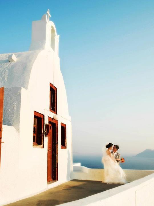 Wedding in Santorini island, Greece