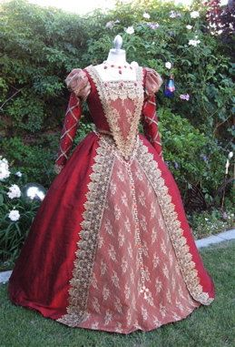 Expensive, but gorgeous.  Shakespeare in Love Elizabethan  Deluxe Gown Custom. $950.00, via Etsy.