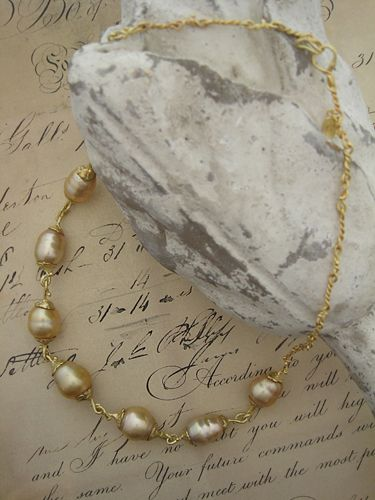 [Pearl Collection : 048] Necklace-K18YG/Pearl