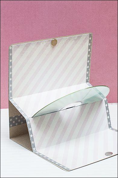 Cd Holder, Cd Cases, Scrapbook Werkstatt, Homemade Cards, Pochette Cd,  Stampin, Google Translate, Postal, Support