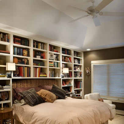 19 best images about couch bookcase on pinterest in a for Bookshelf behind bed