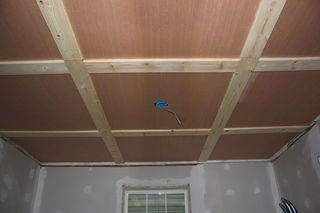 Ditch the Drywall! Hanging Plywood Ceiling Panels