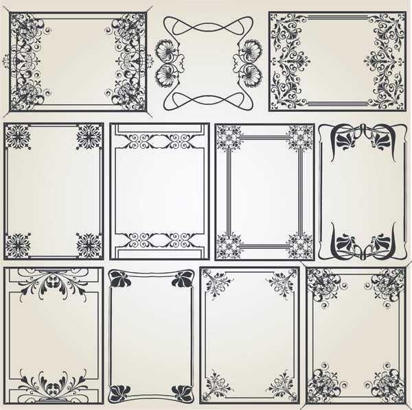 ヨーロピアンクラシック・ヴィンテージデザイン・ベクターパーツ詰め合わせ。 飾り枠、飾り罫、コーナー、その他装飾 Vintage-Design-Elements2…